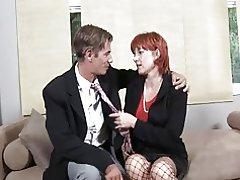 Saggy titted redhead matur.